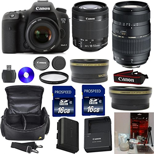 Canon EOS 7D Mark II Digital SLR Camera With Canon EF-S 18-55mm f 3.5-5.6 IS STM Camera Lens + Tamron 70-300mm... by 33rd Street