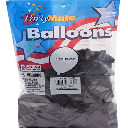 Pioneer 72 Pitch Black Latex Balloons 11
