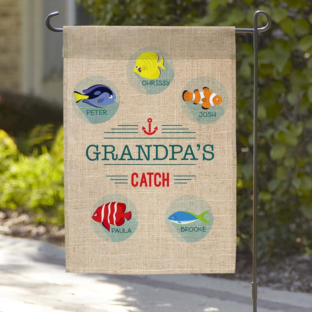 Grandpa's Catch Custom Garden Flag