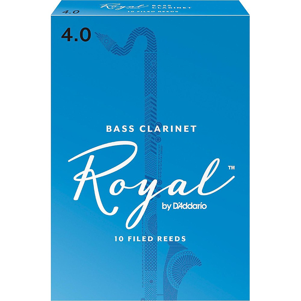 Rico Royal Bass Clarinet Reeds, Box of 10 Strength 4 by Rico Royal
