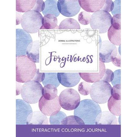 Animal Bubbles (Adult Coloring Journal : Forgiveness (Animal Illustrations, Purple)