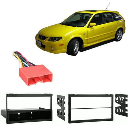 - Fits Mazda Protege/Protege5/Protege MP3 01-04 Harness Radio Install Dash Kit