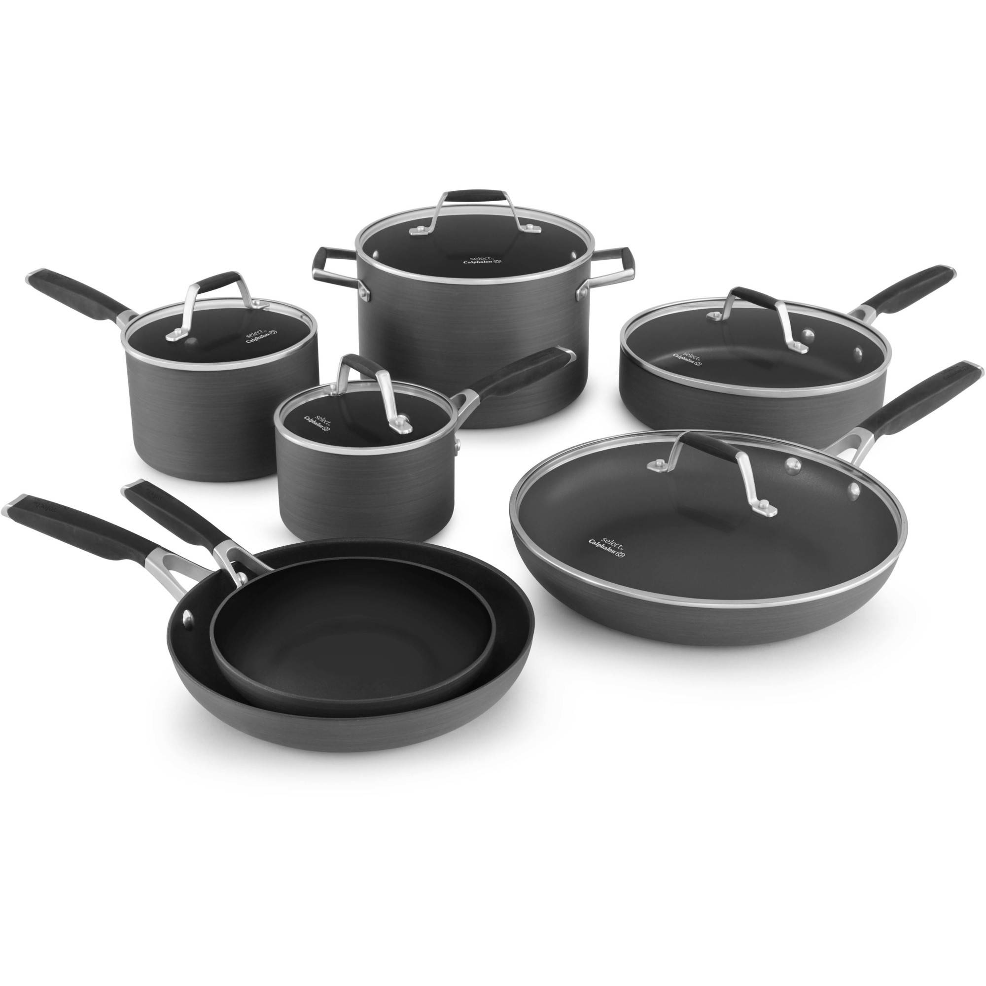Select by Calphalon Hard-Anodized Nonstick 12-piece Cookware Set by