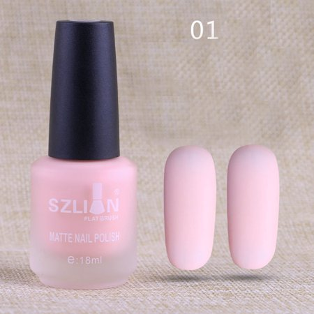 18ml Matte Dull Nail Polish Fast Dry Long Lasting Nail Art Matte Nail Polish -