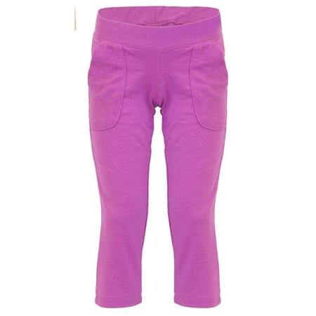 Soffe 5370G511SML Girl French Terry Comfy Capri, Meadow Mauve - Small