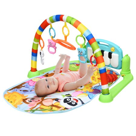 Gymax Baby Kick & Play Piano Gym Activity Play Mat for Sit Lay Down Infant Tummy Time Tummy Time Activity Mat