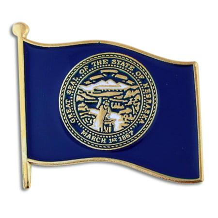 - PinMart's Nebraska US State Flag NE Enamel Lapel Pin 1
