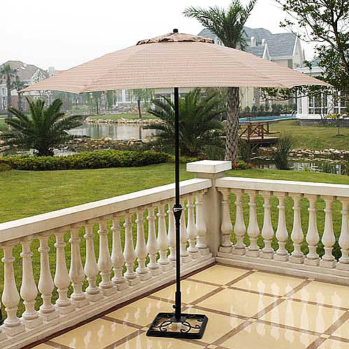 Braddock Heights Brown Patio Umbrella 9u0027