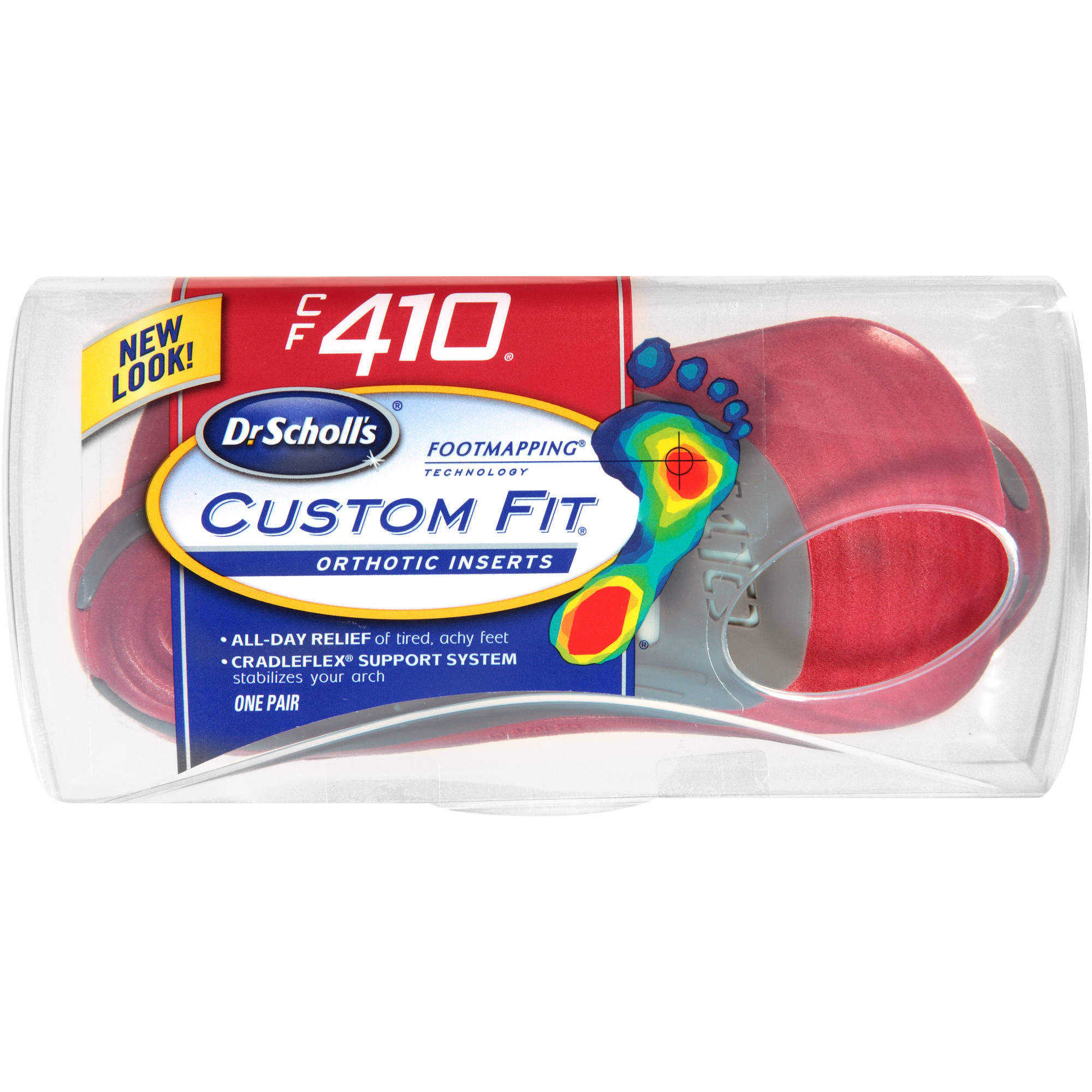 Dr. Scholl's Custom Fit CF410 Orthotic Inserts, 1 pr