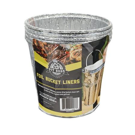 Pit Boss Foil Bucket Liners - 6pk