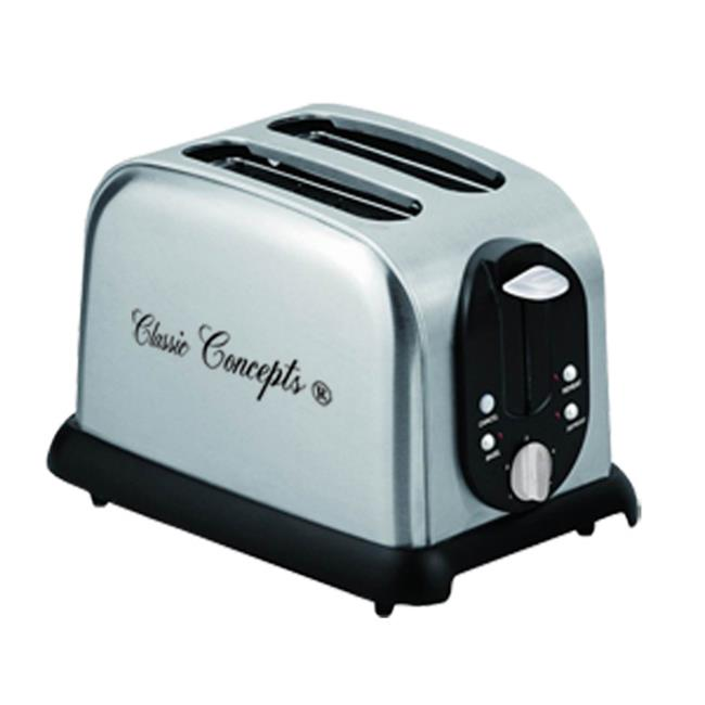 Classic Concepts TO103A 2 Slice Stainless Steel Toaster, 110V