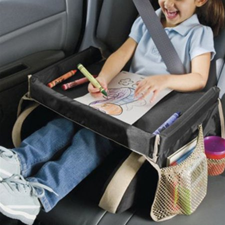 Supersellers Kid Snack & Play Travel Tray Portable Waterproof Drawing Board Table Car Snack Seat