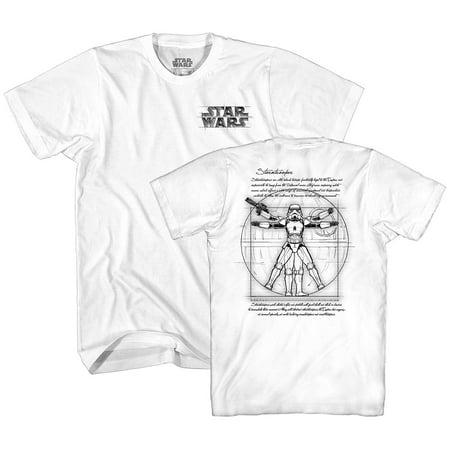 Vitruvian Man Storm Trooper Leonardo da Vinci Funny Tee Adult Mens Graphic T-Shirt