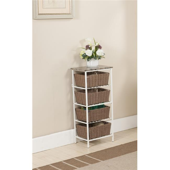 InRoom Designs 4 Tier Storage with Basket