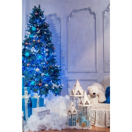 hellodecor polyster 5x7ft chic christmas tree photography studio background sweet xmas gift photo shoot backdrops indoor - Christmas Decoration Video