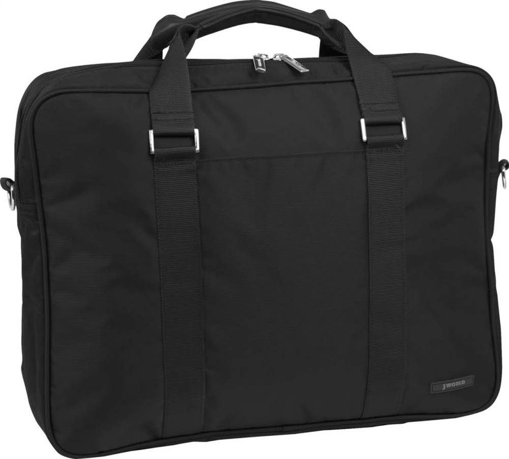 15.4 in. Laptop Briefcase w Extra Compartment (Black)