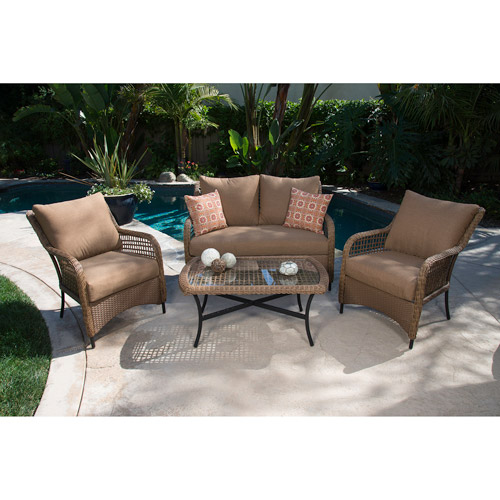 Vineyard 4pc Woven Deep Seating Set