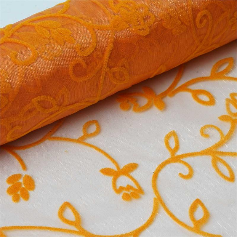 "BalsaCircle 12"" x 10 yards Embossed Sheer Organza Fabric Bolt Put-up - Sewing Crafts Draping Decorations Supplies"
