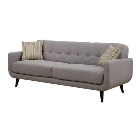 Gray Mid-Century Polyester Fabric Sofa Multi Fabric Sofa