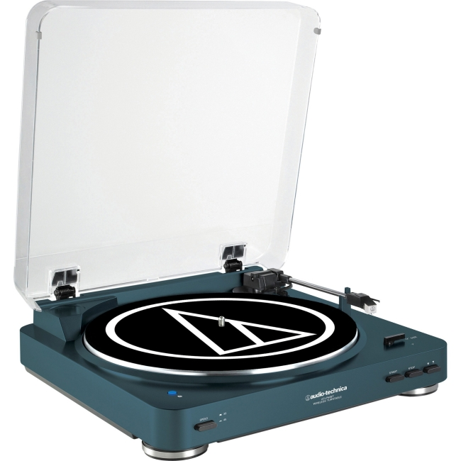 Audio-Technica Fully Automatic Bluetooth Wireless Belt-Drive Stereo Turntable, Navy... by Audio-Technica