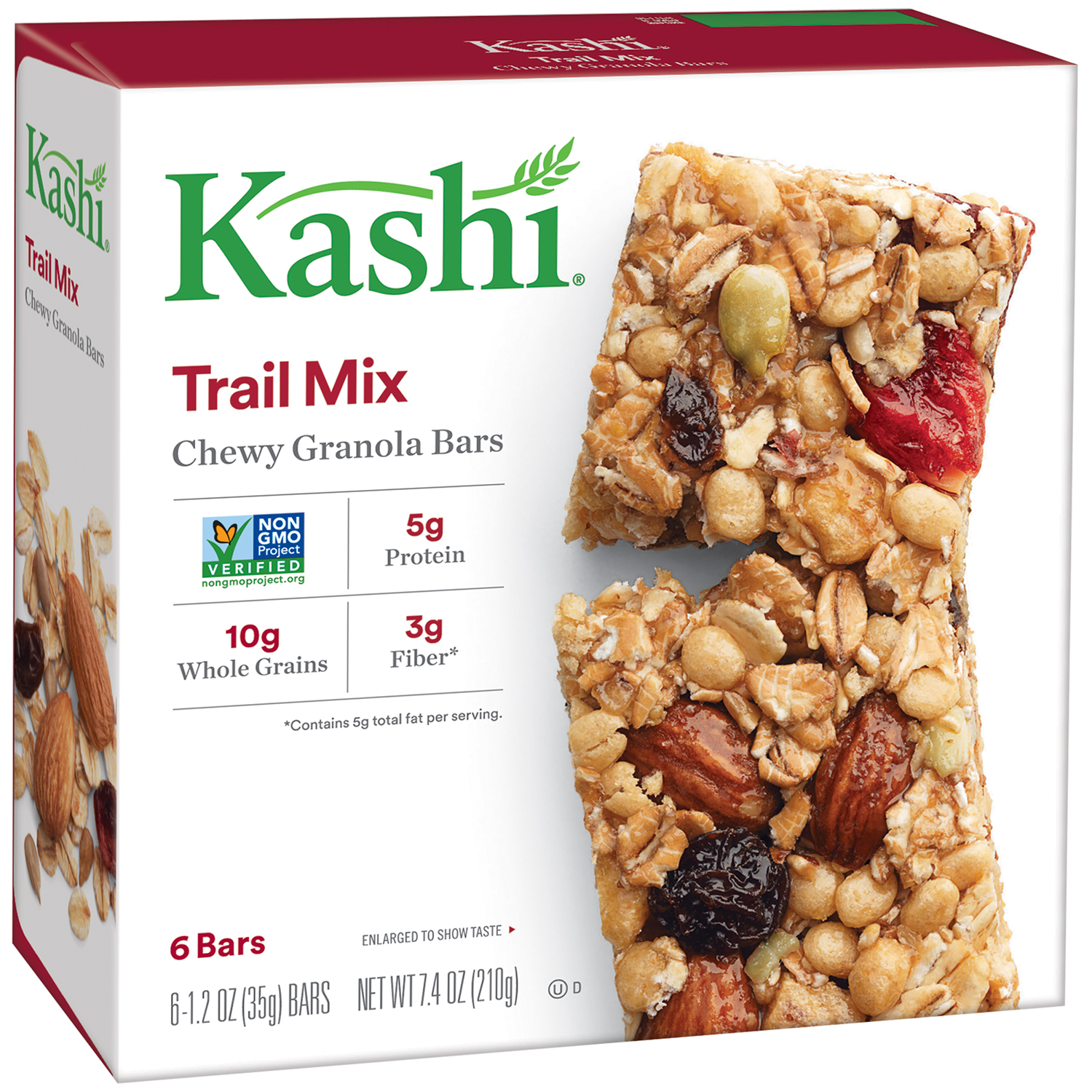 Kashi® Trail Mix Chewy Granola Bars 6-1.2 oz. Wrappers