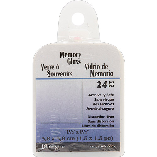 "Ranger Inkssentials Memory Glass, Clear, 1.5"" Square, 24/Pkg"