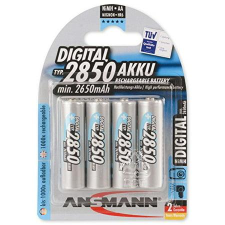 ANSMANN AA Rechargeable Batteries 2850mAh high-capacity high-rate rechargeable NiMH AA Batteries for flashlight, camera, radio etc.