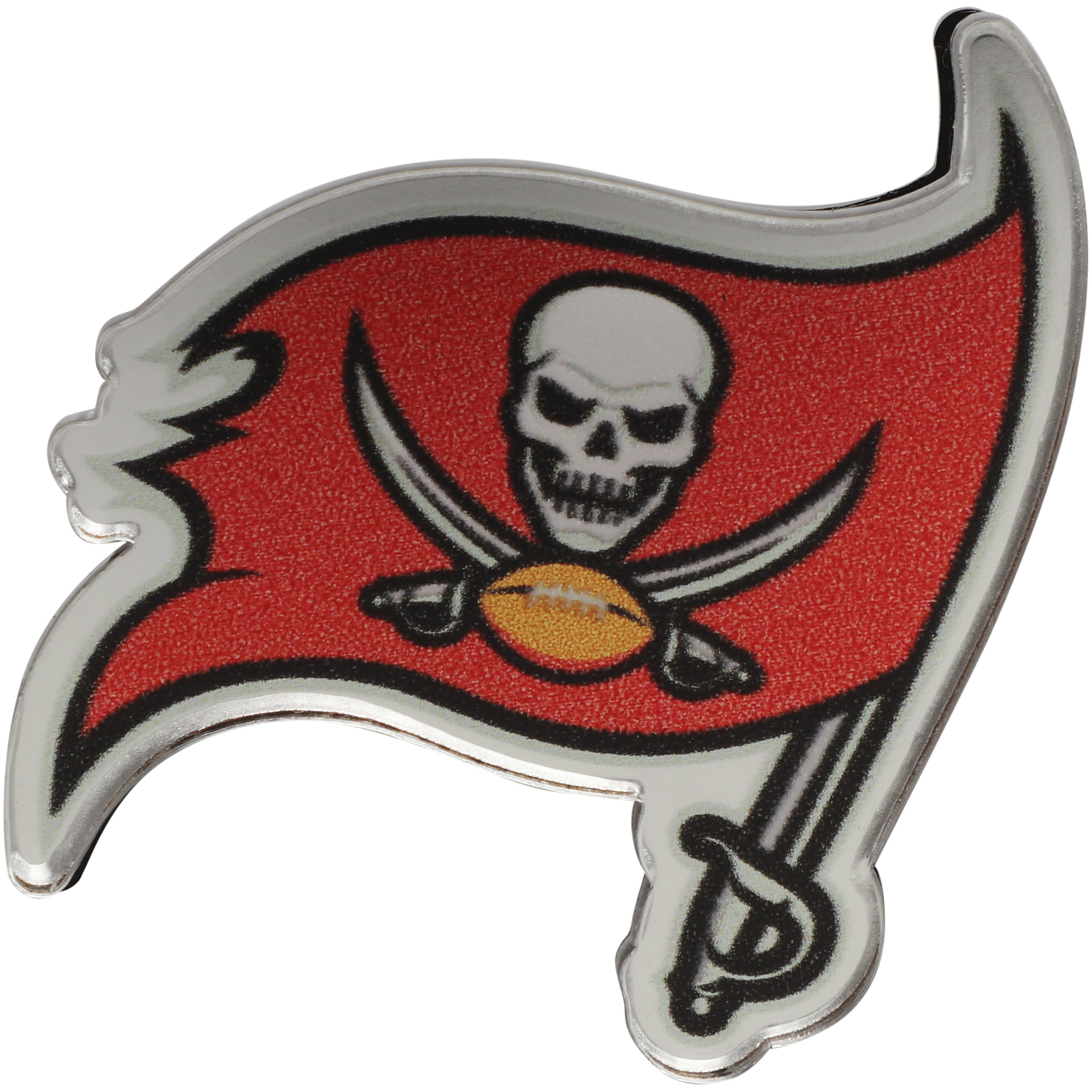 Tampa Bay Buccaneers Acrylic License Plate Screw Cover - No Size