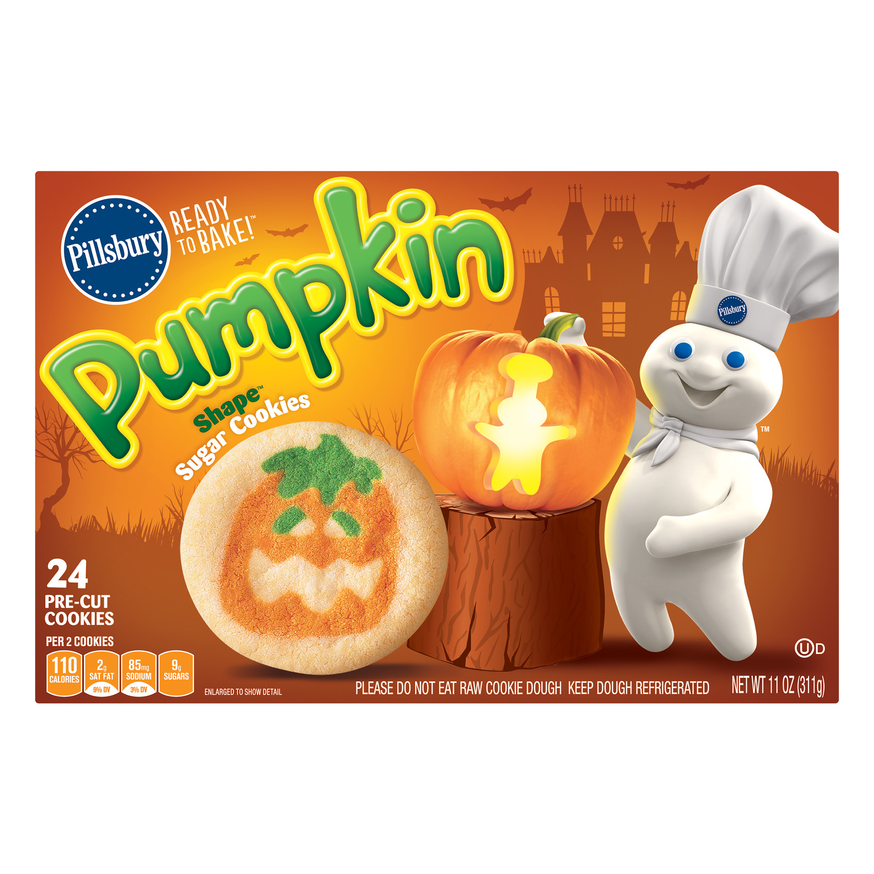 Pillsbury Ready to Bake!™ Pumpkin Shape™ Sugar Cookies, 11.0 OZ