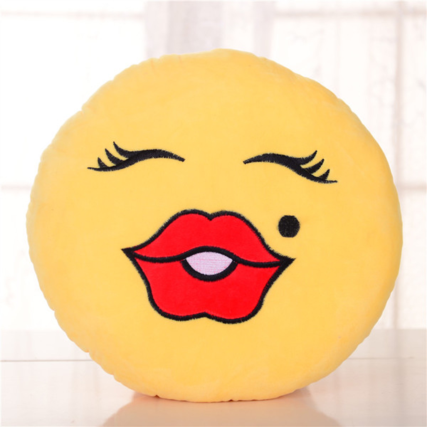 BH Toys Emoji Plush Expression Pillow - Beauty Face