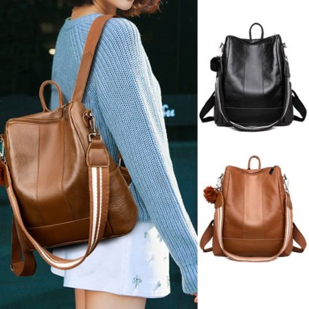 Mini Backpack Purse (Women´s Fashion Retro Leather Shoulder Bags School Book Travel Handbag)