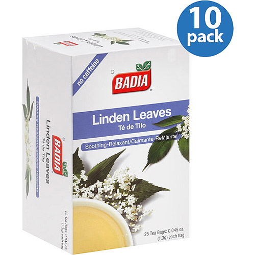 Badia Linden Leaves Tea Bags, 25 count, (Pack of 10)