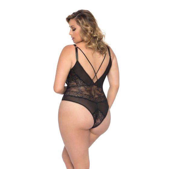 e75802de1b4 Oh La La Cheri - Womens Sexy Plunge Strappy Plus Size Teddy Bodysuit ...