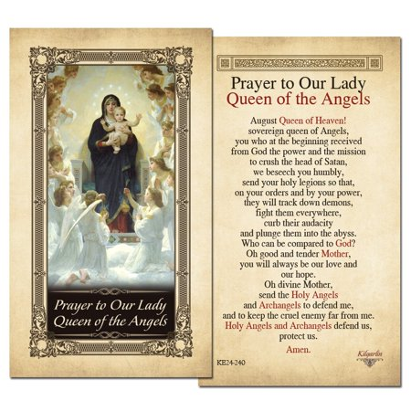 Our Lady Queen of the Angels Laminated Holy Card - Pack of 25