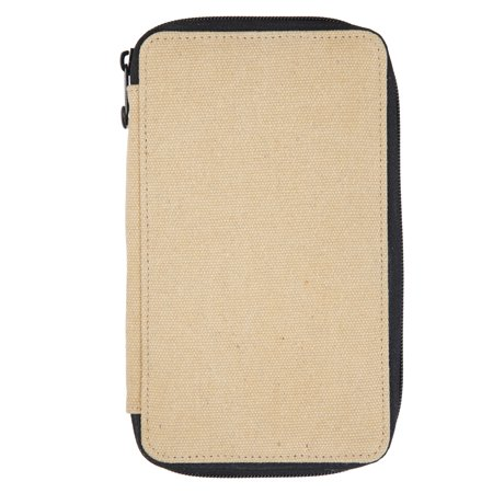 Global Art Canvas Pencil Case, 24-Pencil Capacity, Wheat