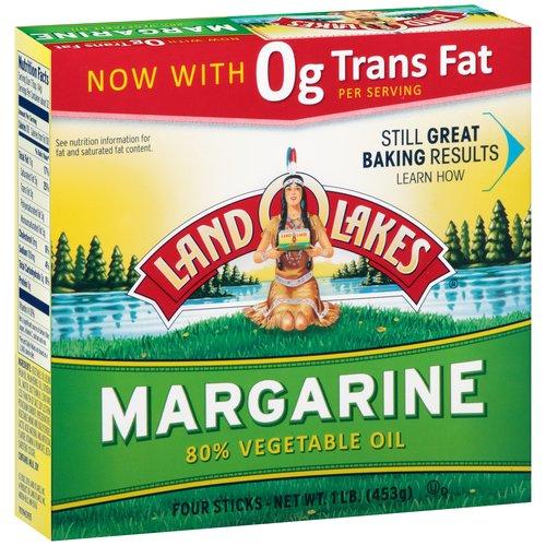 Land O'Lakes, 80% Vegetable Oil Margarine, 1 lb