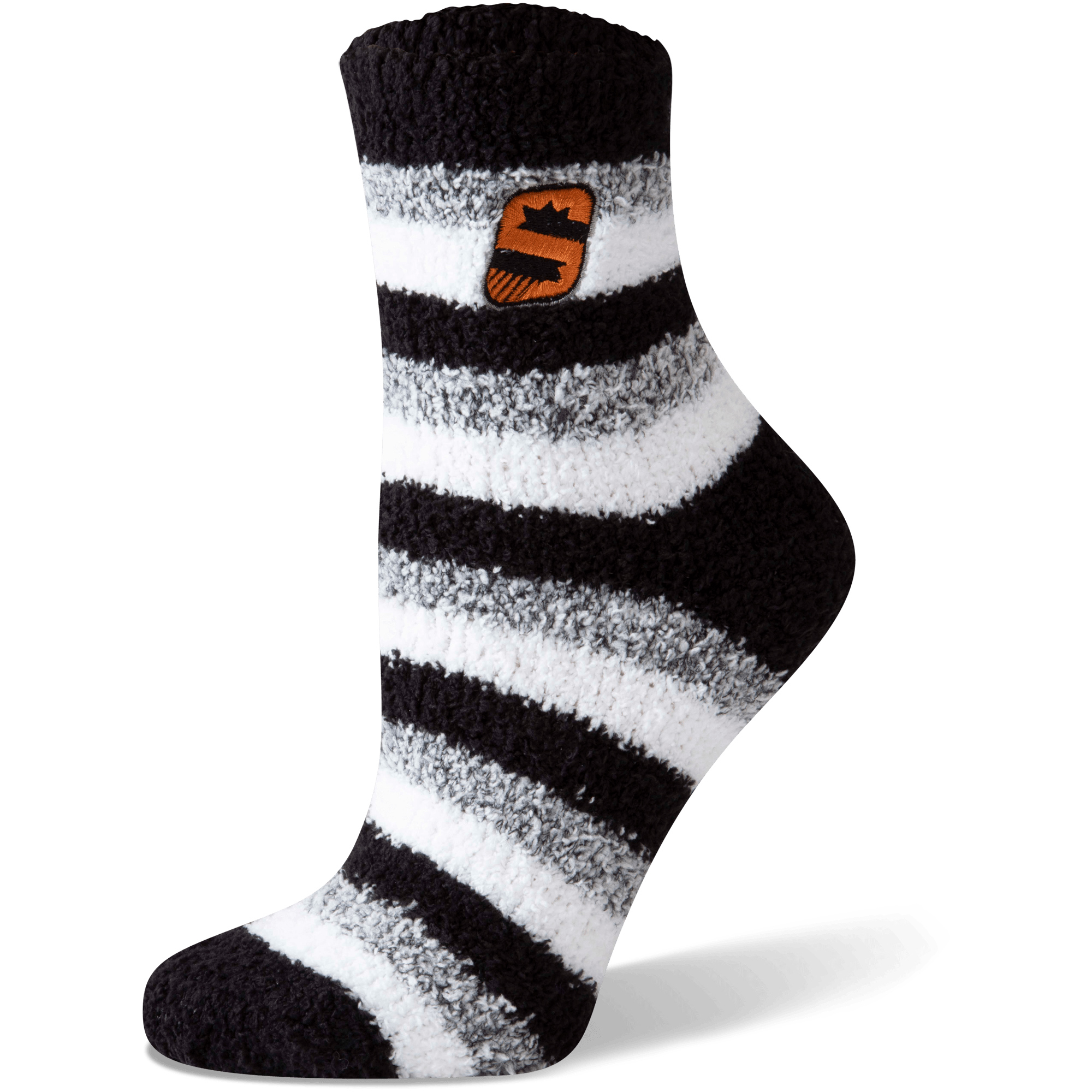 Phoenix Suns Women's Fuzzy Steps Quarter-Length Socks - M