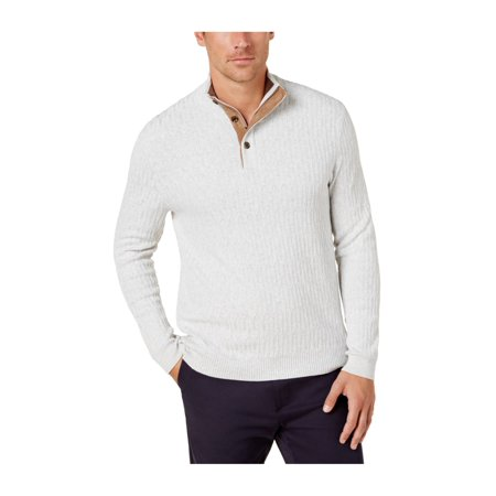 Tasso Elba Mens 3 Button Pullover Sweater