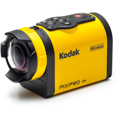 "KODAK PIXPRO SP1 Digital Camcorder - 1.5"" LCD - CMOS - Full HD - Yellow"