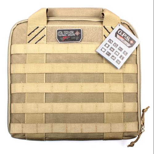 G.P.S. GPS-T1314PCT Hardside Tactical Pistol Case Tan
