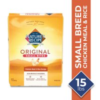 Nature's Recipe Small Bites Dry Dog Food Chicken Meal & Rice Recipe (Various Sizes)