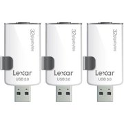 Lexar 3-Pack JumpDrive M20i 32GB USB 3.0 Flash Drive for iPhone w/ Lightning Connector