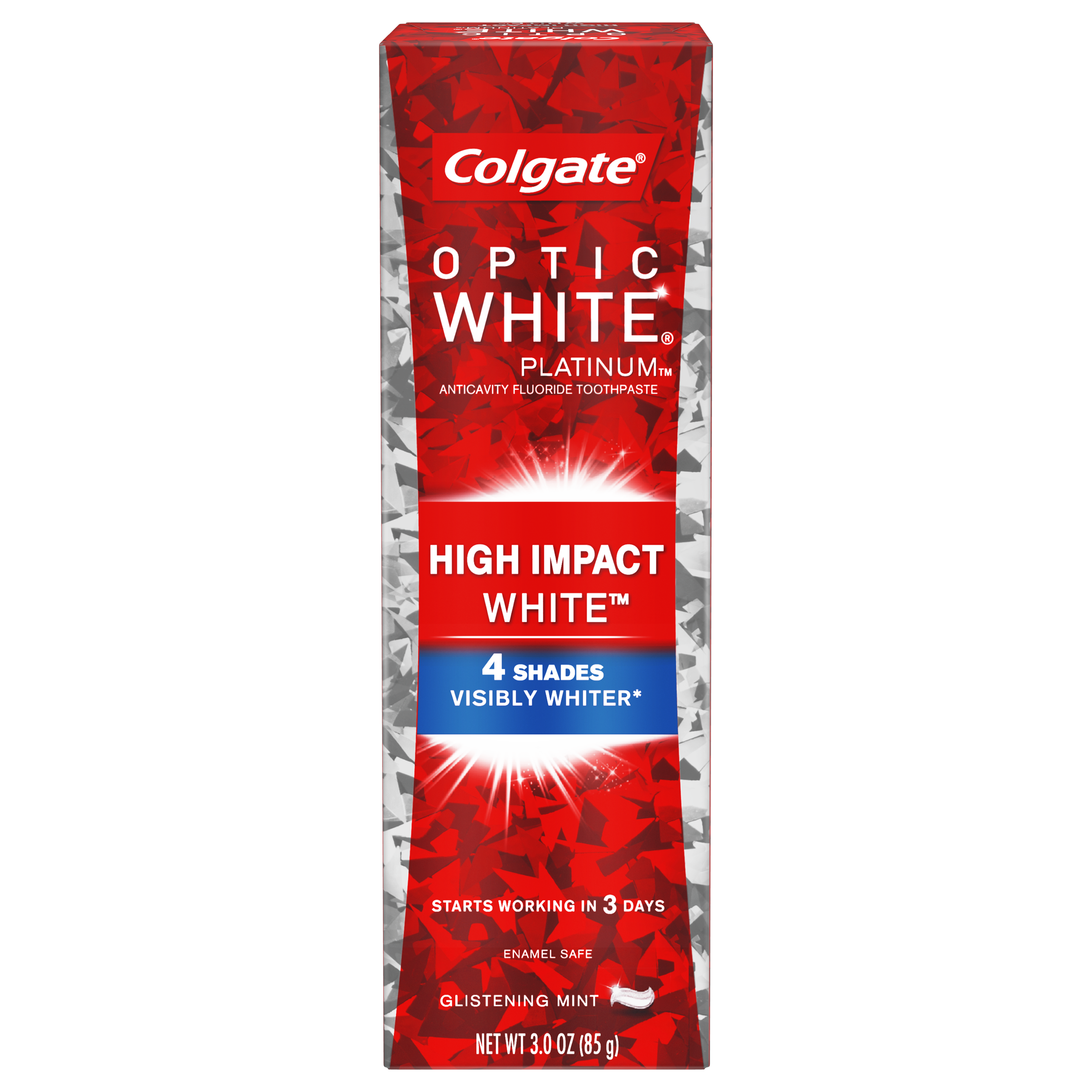 Colgate Optic White High Impact White Whitening Toothpaste - 3 ounce
