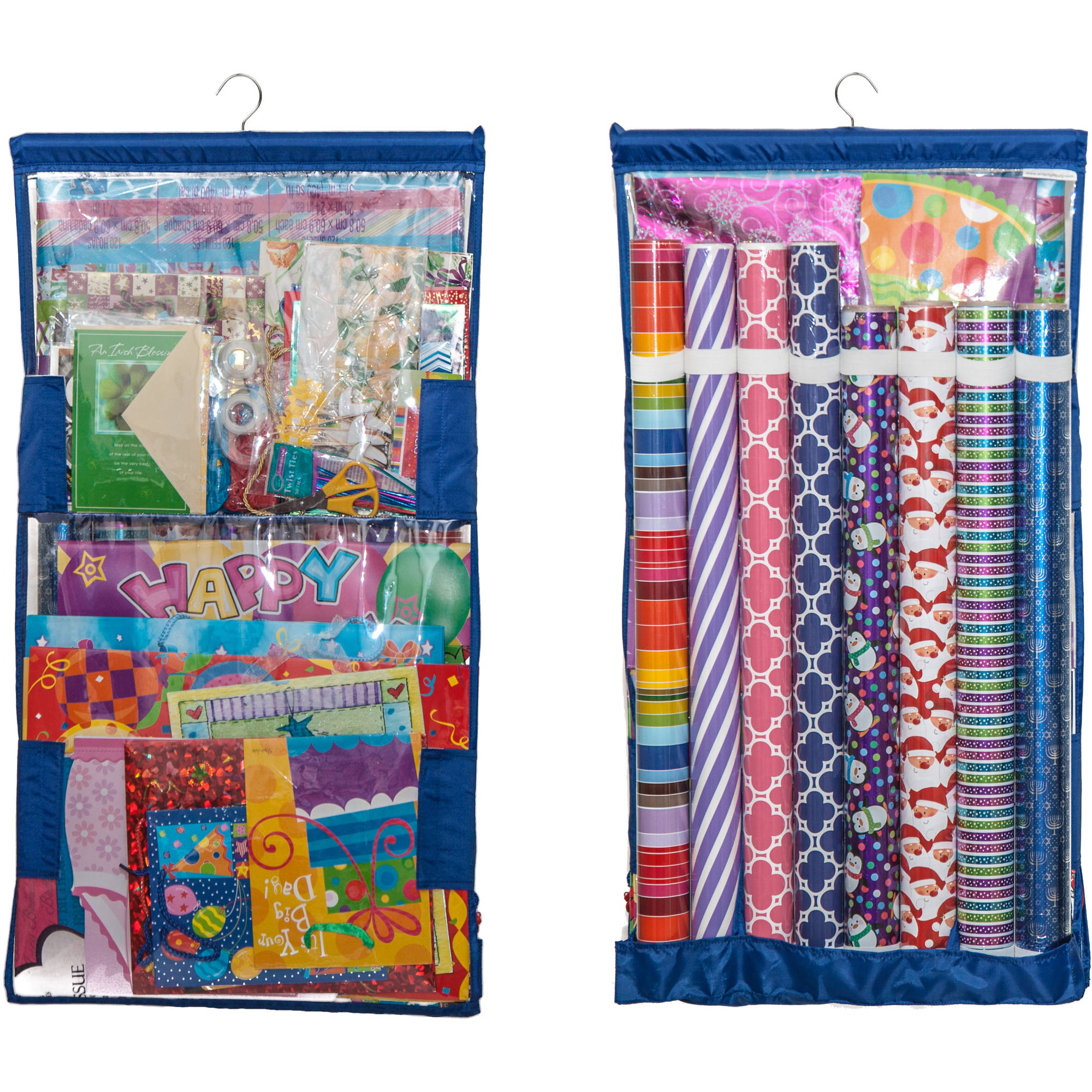 Wrap iT Buddy Gift Wrap Storage Organizer, Vertical Hanging ...