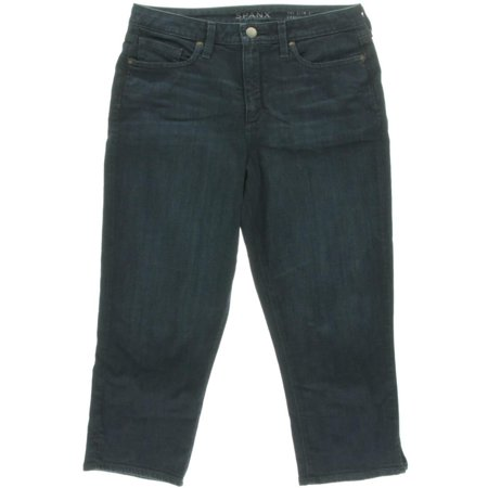 Spanx By Sara Blakely Womens The Slim-X High Waist Slim Fit Capri Jeans