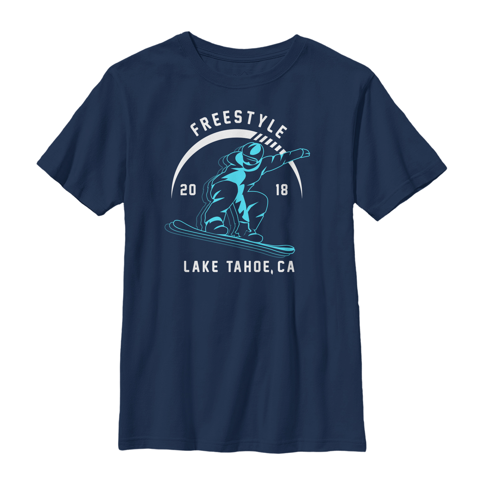 Lost Gods Lake Tahoe Snowboarding Boys Graphic T Shirt