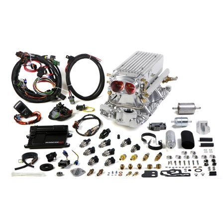 Holley Performance 550-822 Avenger EFI Stealth Ram Fuel Injection System; Chevy Small Block V8; Early To Late Heads; 36 lbs./hr. Fuel Injectors; Range Up To 500 hp; Polished;