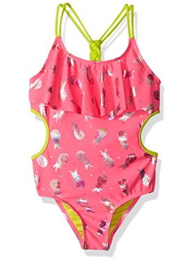 Limited Too Little Girls' Pineapple Foil 1pc, Knockout Pink, 6X