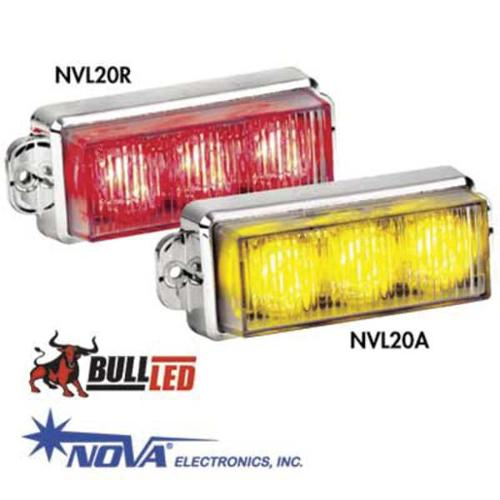 BCH1R Warning Light,LED,Rd,Flange,Rect,4-3/8 L,