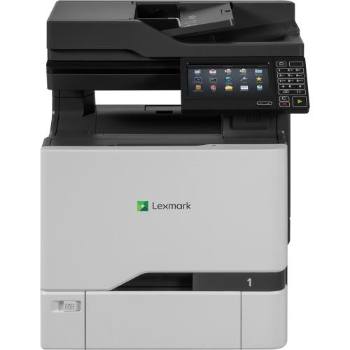 Lexmark CX725de Laser Multifunction Printer - Color - Plain Paper Print - Desktop - Copier/Fax/Printer/Scanner - 50 ppm Mono/50 ppm Color Print - 2400 x 600 dpi Print - Automatic Duplex Print - 1 x In